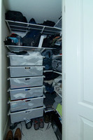2nd Walk in Closet with Container Store Organizers