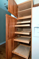 Pantry Closet with Roll-out Trays