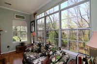 Living Room's Wooded View