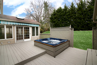 2-Level Deck with Hot Tub & Awning